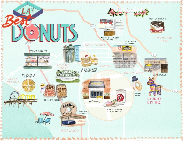 Best-Donuts-in-Los-Angeles-Map