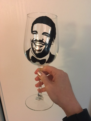 Drake wine glass