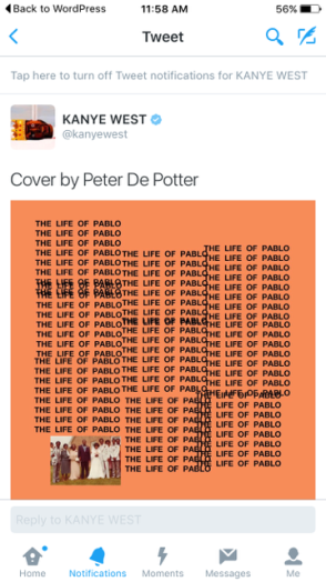 KanyeTweetedTLOP