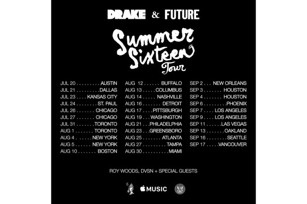 Summer Sixteen Tour Dates
